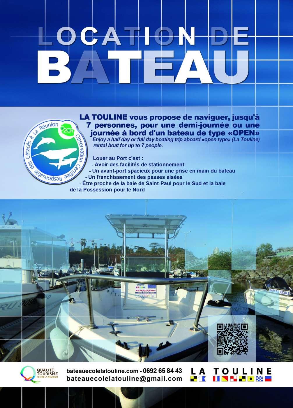 BATEAU ECOLE LA TOULINE Le Port 974