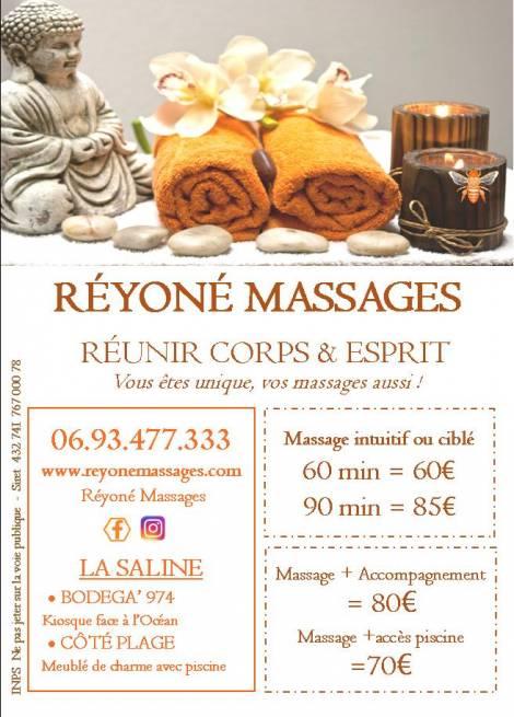 REYONÉ MASSAGE La Saline-les-Bains 974