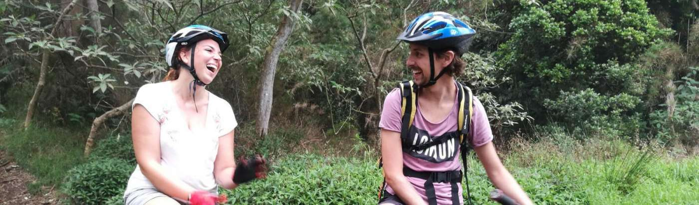 Avoir une bonne descente avec bike aventure 974