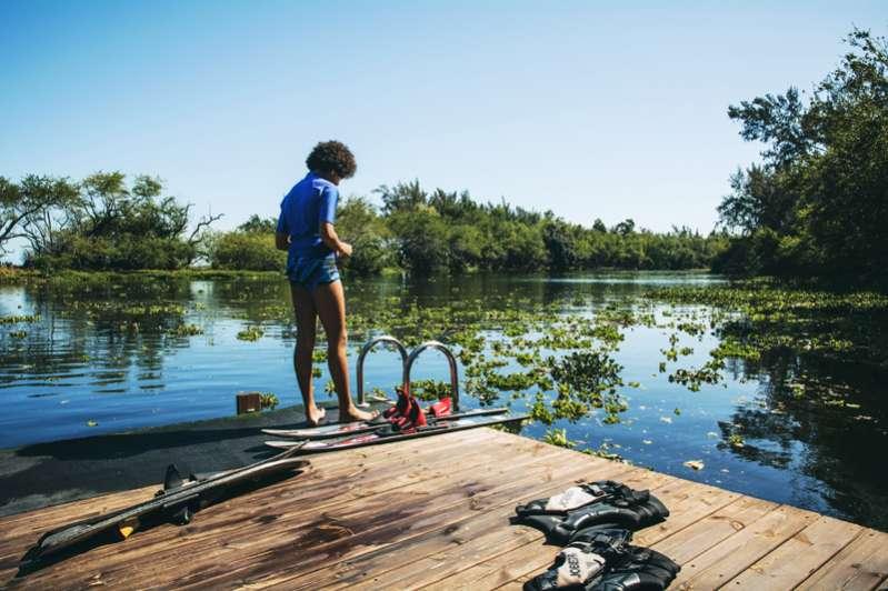 tout schuss sur l'étang saint-paul 974