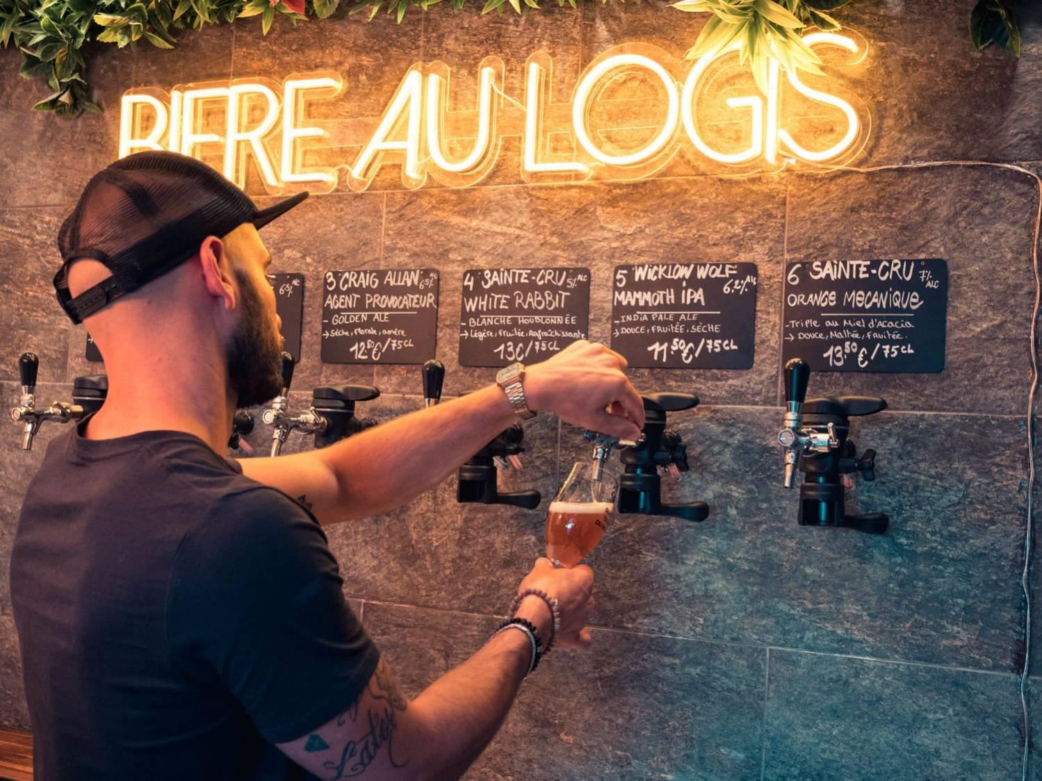 pression à emporter chez Bière au logis