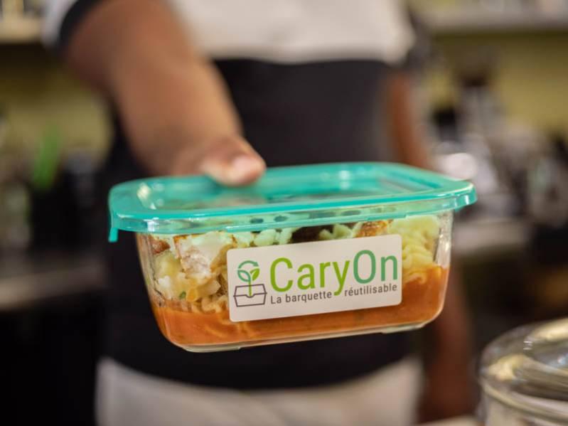 CaryOn : une barquette consignée pour vos repas à emporter 974