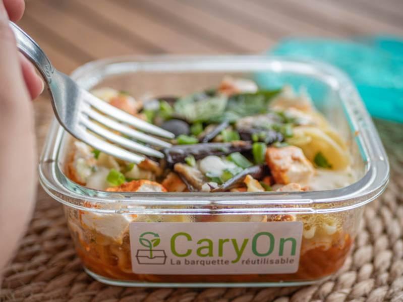 CaryOn : une barquette consignée pour vos repas à emporter
