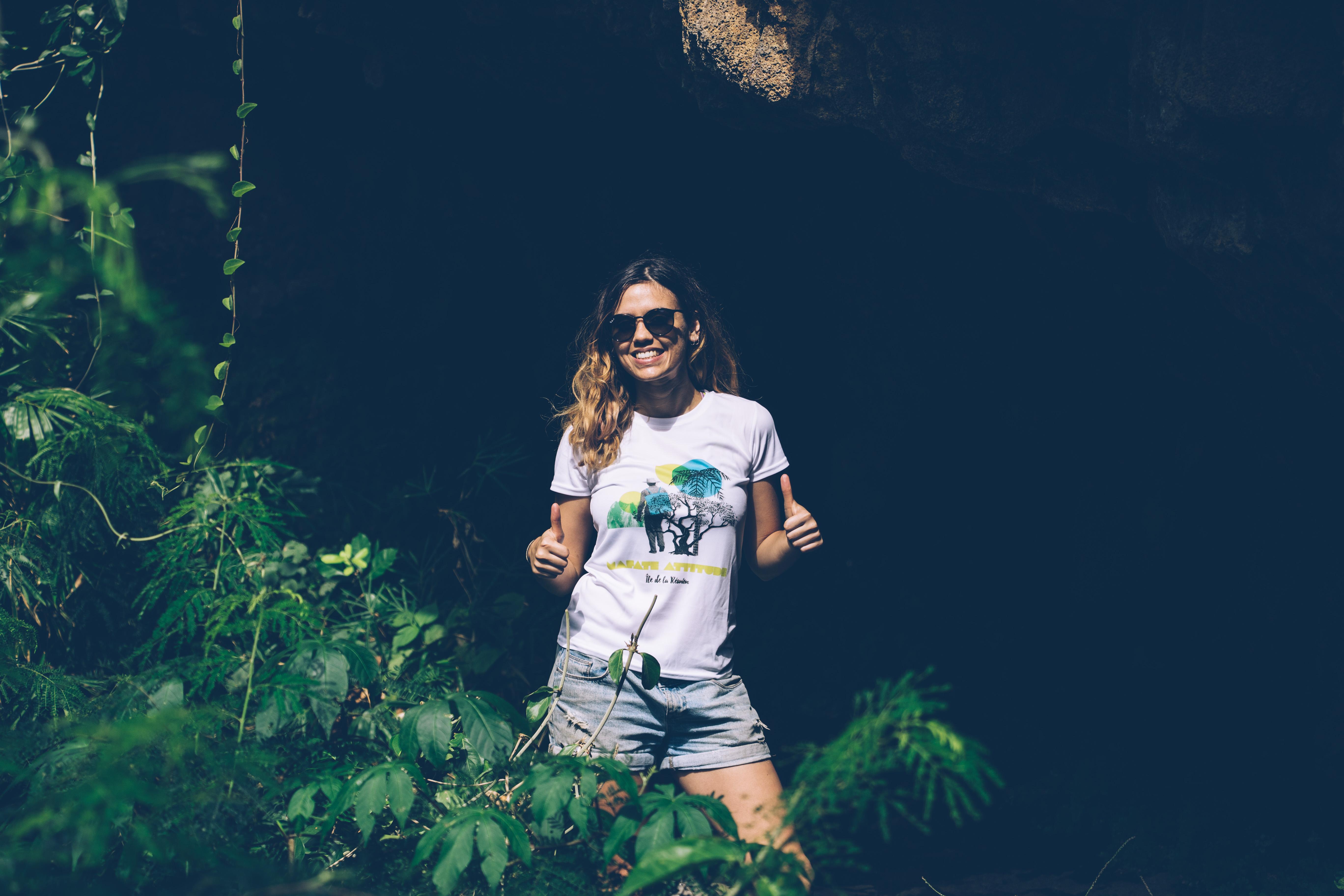 tee-shirt respirant femme Mafate Attitude charte ?co-responsable