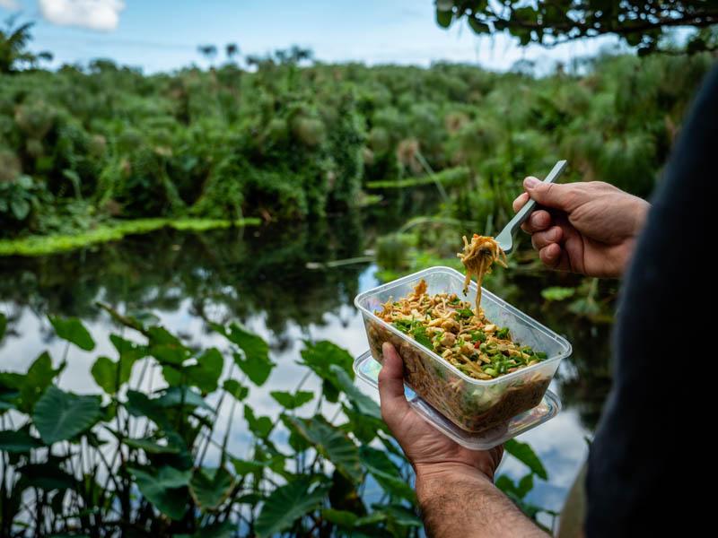 cary à emporter au snack du moulin à eau au snack de l'étang saint-paul