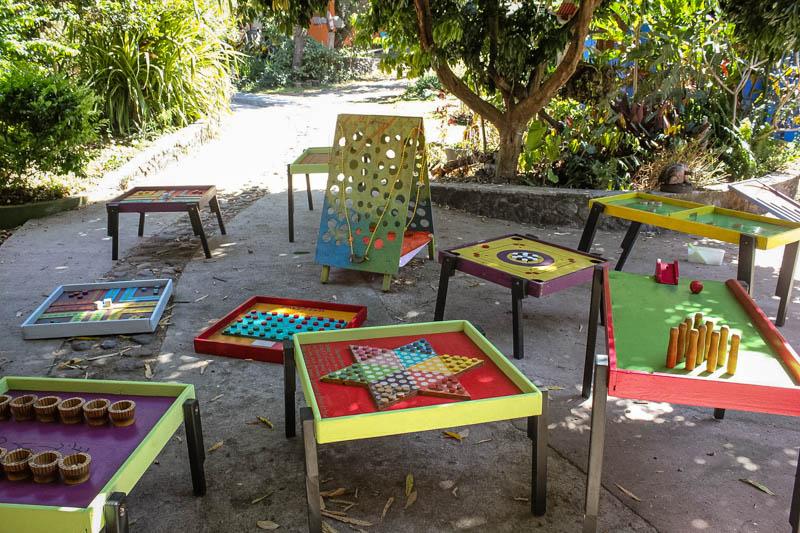jeux en bois à l'ile de La Réunion