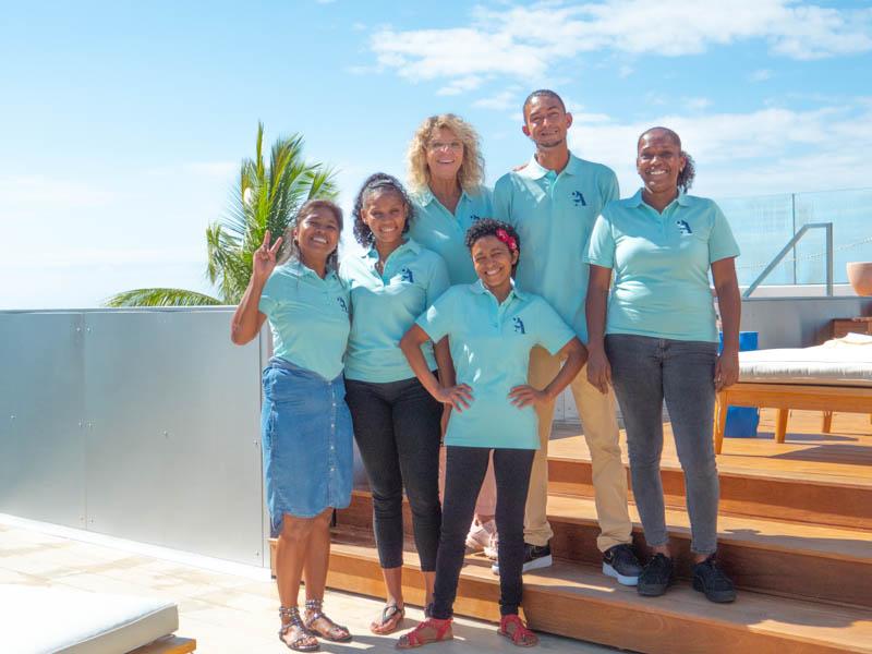 équipe de l'hôtel 2A à Boucan Canot Ile de La Réunion