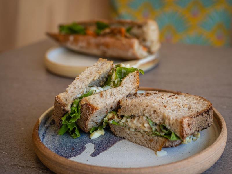 sandwich proposé à Cassava à Saint-Paul ile de La Raunion
