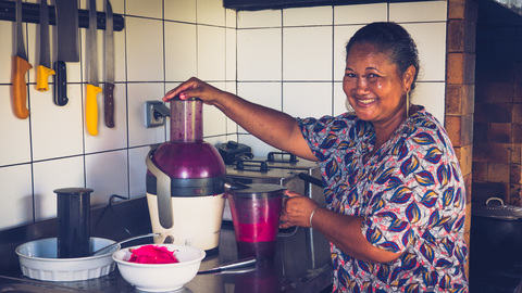 Brigitte ichabe, le cordon bleu de l'ile de La Réunion