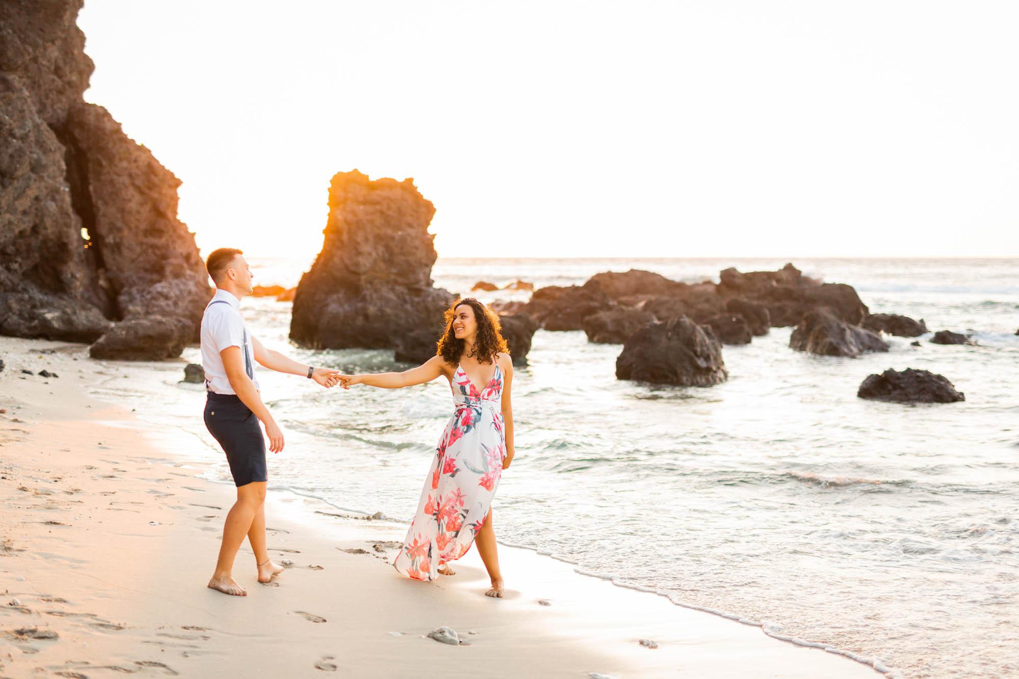 Shooting photo sur la plage de Cap Homard par Fanny Tiara