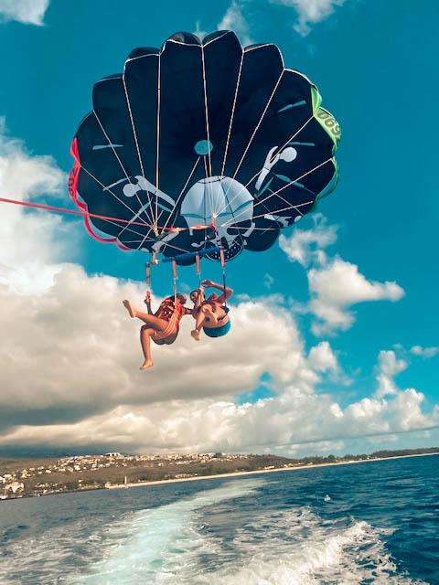 parachute ascensionnel à l'Ile de La Réunion avec Paraseil