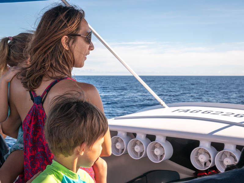 balade en bateau en famille à l'ile de la Réunion