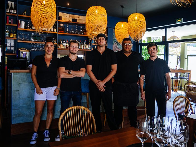l'équipe du restaurant la Réserve à Saint-Gilles-les-Bains
