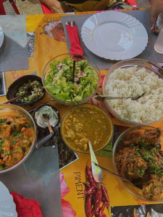 La cuisine réunionnaise créole de l'ile de La Réunion 974