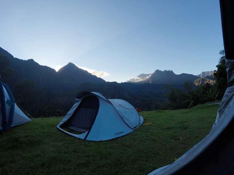 Les campings dans le cirque de mafate à La Réunion 974