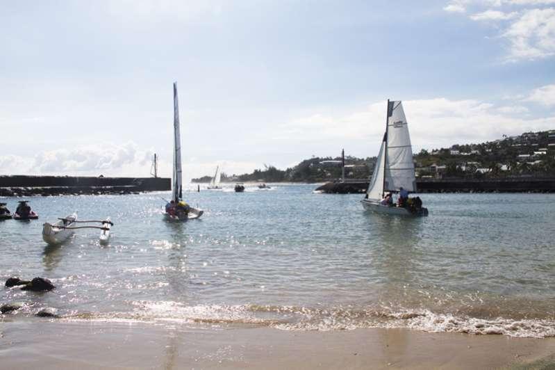 Voile optimist à l'ile de La Réunion 974