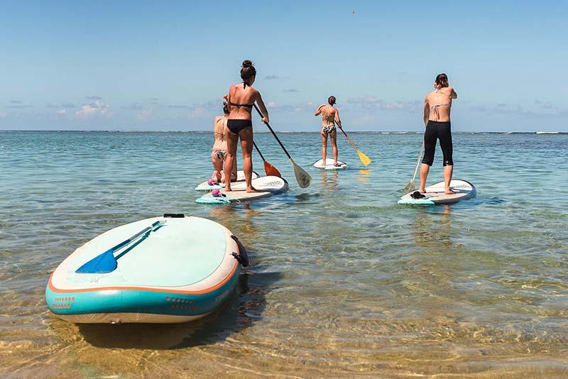 Paddle sur le lagon de l'Hermitage à l'ile de La Réunion 974
