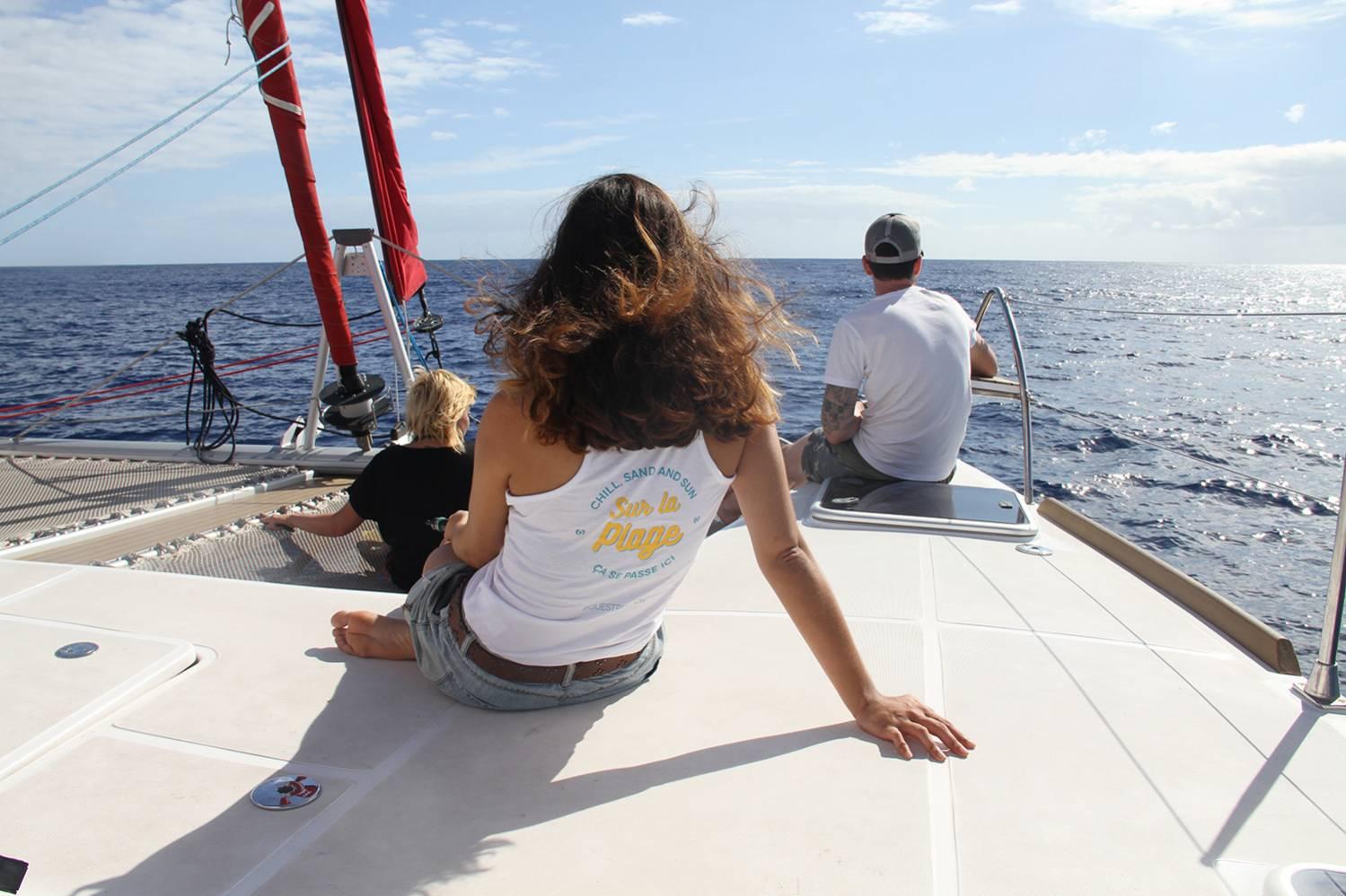 Balade en catamaran sur l'océan indien à l'Ile de la Réunion 974