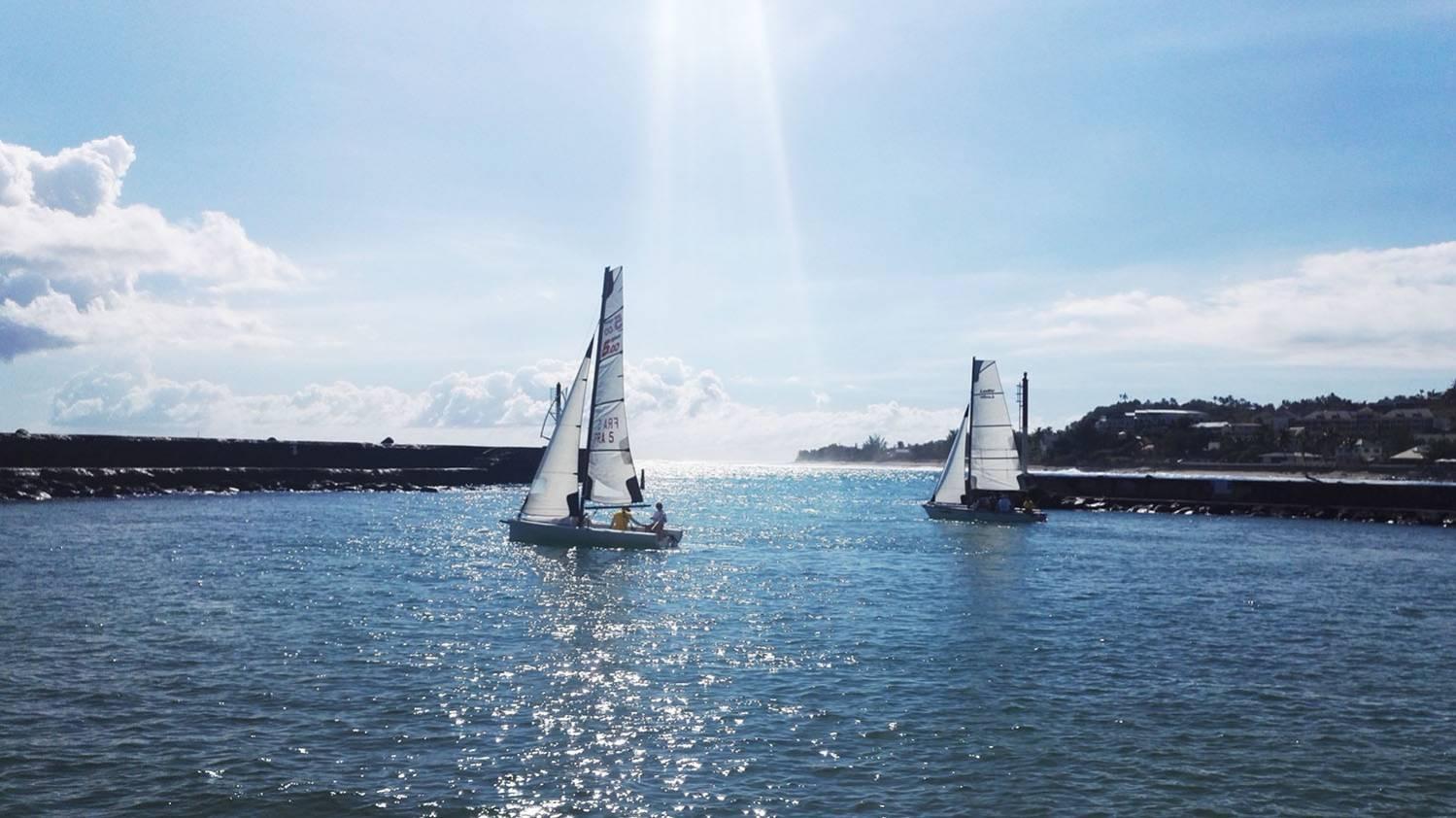 Faire de l'optimist, de la voile à La Réunion 974