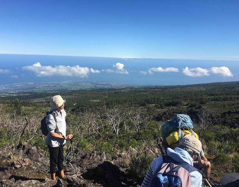 randonnée avec vues dans les Hauts de La Réunion