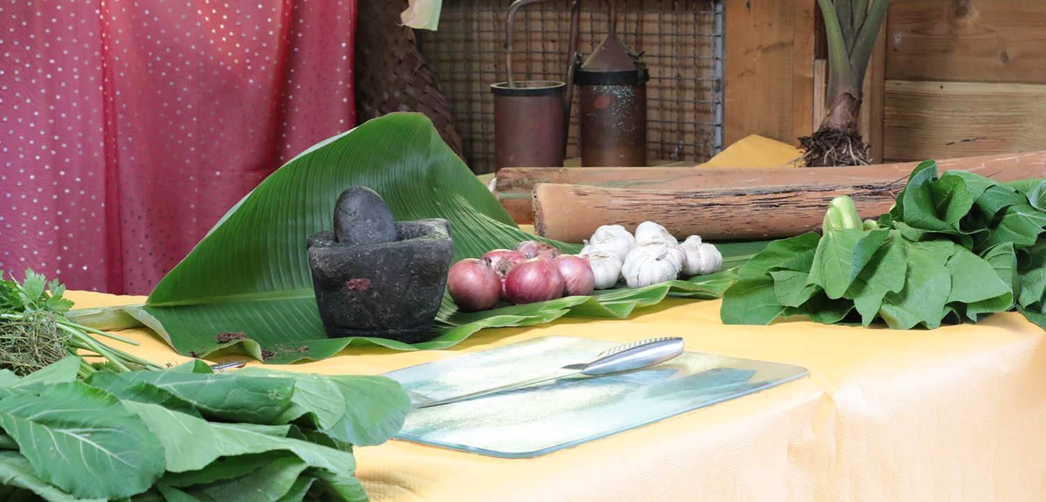pilon, ail, oignons, brèdes .. les éléments indispensables pour concocter de bons plats réunionnais
