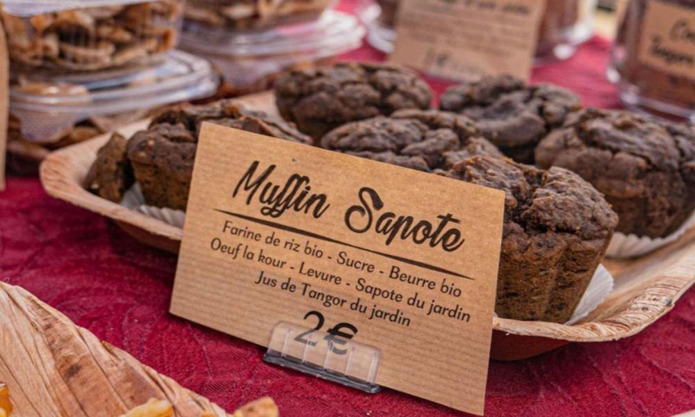 Muffin sapote au marche bio de l'Eperon