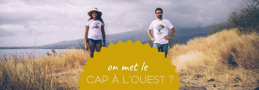 présentation des tee-shirts Cap à l'Ouest au Cap Lahoussaye