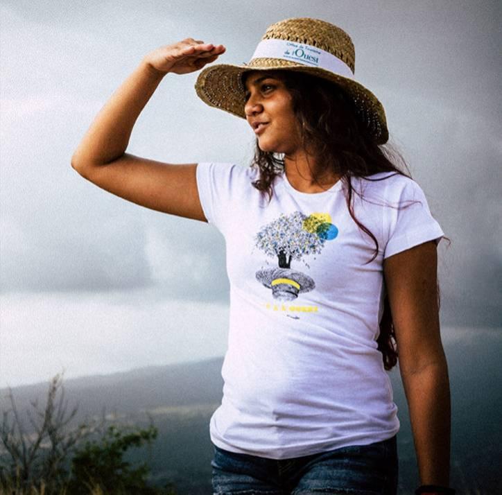 Boutique Ouest La Réunion Cap à l'Ouest T-Shirt Femme