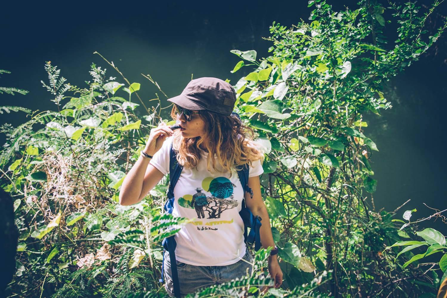 T-Shirt respirant Femme Mafate Attitude Ile de La Réunion