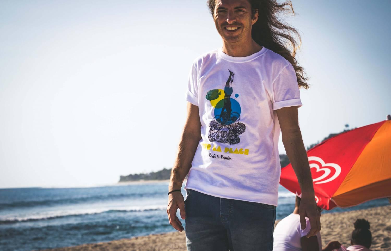 T-Shirt bio homme sur la plage