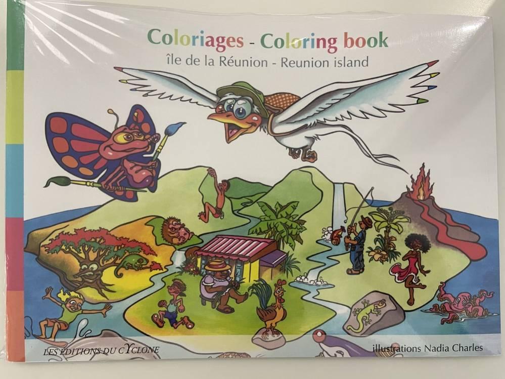 Page de couverture du Livre de coloriage - Ile de La Réunion