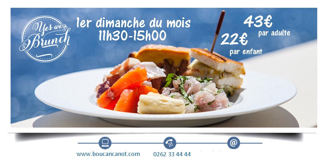 BRUNCH DU BOUCAN CANOTBoucan Canot, agenda, Les hôtels s'animent, Office de Tourisme, Ouest, La Réunion, Ile de La Réunion, 974