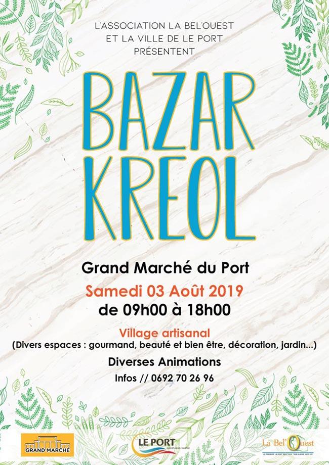 BAZAR KREOLLe Port, agenda, Les communes bougent, Office de Tourisme, Ouest, La Réunion, Ile de La Réunion, 974