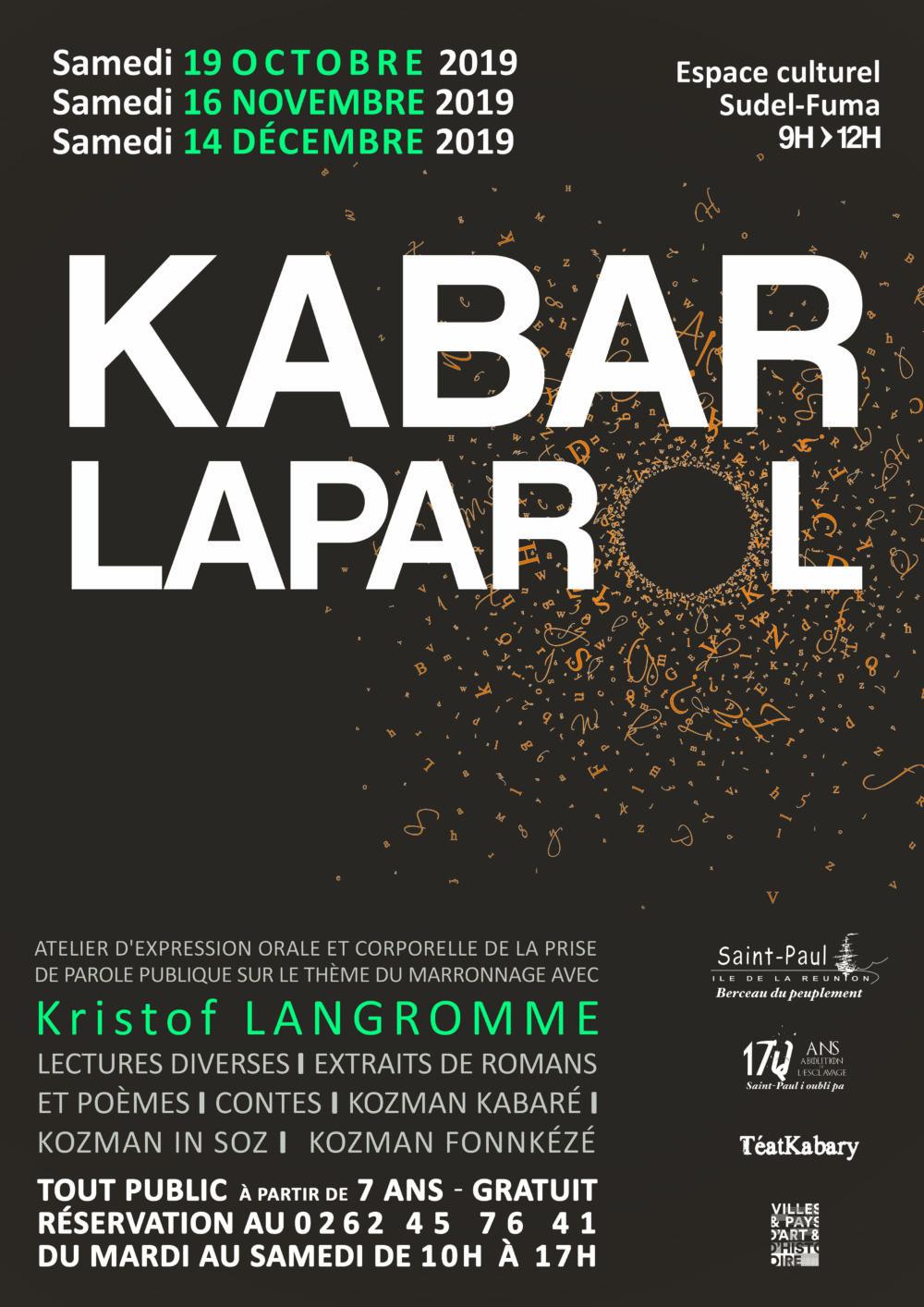 KABAR LAPAROLSaint-Paul, agenda, Les stages et les ateliers, Office de Tourisme, Ouest, La Réunion, Ile de La Réunion, 974