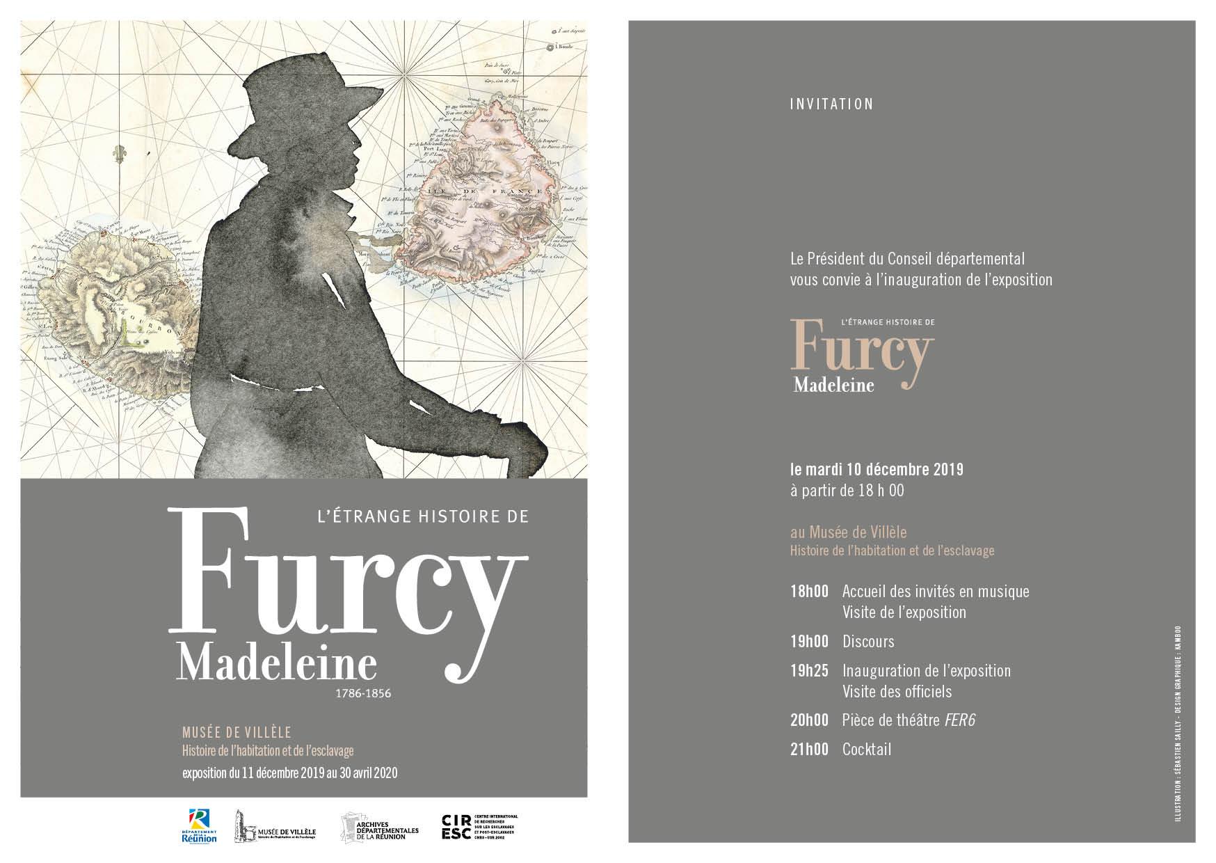 EXPOSITION - L'ETRANGE HISTOIRE DE FURCY MADELEINESaint-Gilles-Les-Hauts, agenda, L'actu des musées, Office de Tourisme, Ouest, La Réunion, Ile de La Réunion, 974