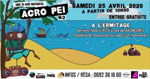 ACRO PEI 3ème ÉDITIONL'Ermitage, agenda, Les communes bougent, Office de Tourisme, Ouest, La Réunion, Ile de La Réunion, 974