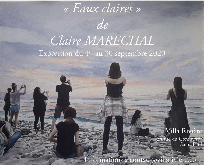EXPOSITION - EAUX CLAIRES DE CLAIRE MARECHAL